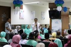 Sambutan oleh Direktur Medik dan Keperawatan RS YPK Mandiri dr. Yusfa Rasyid,  SpOG